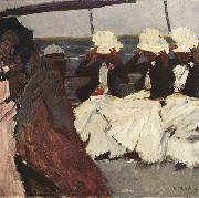 George Hendrik Breitner Three Women on Board (nn02) oil painting picture wholesale