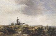 George cole The Windmilll on the Heath (mk37) oil painting artist