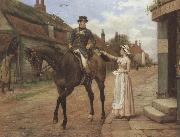 George goodwin kilburne Collecting the Post (mk37) oil painting