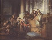 Gerbrand van den Eeckhout Christ teaching in the Synagogue at Nazareth (mk33) oil painting artist