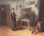 Gerrit Dou Painter in his studio (mk33) oil painting picture wholesale
