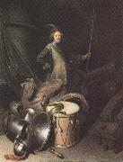 Gerrit Dou Standing Soldier with Weapons (mk33) oil painting picture wholesale