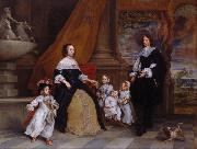 Gonzales Coques The Family of Jan Baptista Anthonie (mk25` oil painting artist