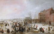 Hendrick Avercamp A Scene on the Ice Near a Town (nn03) oil painting picture wholesale