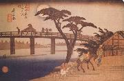 Hiroshige, Ando Moonlight,Nagakubo (nn03) oil painting picture wholesale