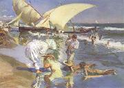 Joaquin Sorolla Beach of Valencia by Morning Light (nn02) oil painting artist