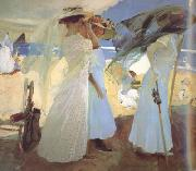 Joaquin Sorolla Under the Awning (Zarauz) (nn02) oil painting picture wholesale