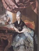 Johann Zoffany Queen Charlotte (mk25) oil painting reproduction