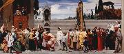 Lord Frederic Leighton Cimabue's Madonna being carried through the Streets of Florence (mk25) oil painting picture wholesale