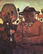 Paula Modersohn-Becker old Poorhouse Woman with a Glass Bottle (nn03) oil painting picture wholesale