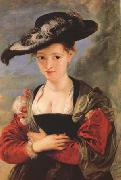 Peter Paul Rubens Portrait of Susanna Fourment ('Le Chapeau de Paille') (mk27) oil painting picture wholesale
