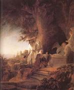 REMBRANDT Harmenszoon van Rijn Christ and St Mary Magdalene at the Tomb (mk25) oil painting picture wholesale