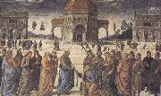 Sandro Botticelli Pietro Perugino,Consigning the Keys (mk36) oil painting picture wholesale