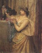 Sir edward coley burne-jones,Bt.,A.R.A.,R.W.S Portrait of Mrs.William J.Stillman,nee Marie Spartali (mk37) oil painting artist