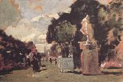 Tina Blau In the Tuileries Gardens (sunny Day) (nn02) oil painting picture wholesale