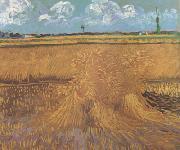 Vincent Van Gogh Wheat Field with Sheaves (nn04) oil painting picture wholesale