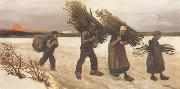 Vincent Van Gogh Wood Gatherers in the Snow (nn04) oil painting picture wholesale
