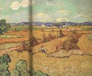 Vincent Van Gogh Wheat Stacks with Reaper (nn04) oil painting picture wholesale