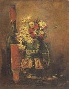 Vincent Van Gogh Vase with Carnation and Roses and a Bottle (nn04) oil painting picture wholesale