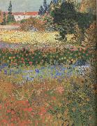 Vincent Van Gogh Flowering Garden (nn04) oil painting picture wholesale