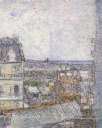 Vincent Van Gogh View of Paris from Vincent's Room in the Rue Lepic (nn04) oil painting picture wholesale