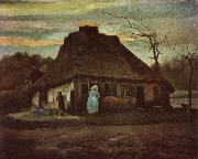 Vincent Van Gogh Cottage with Trees (nn04) oil painting picture wholesale