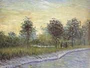 Vincent Van Gogh Lane in Voyer d'Argenson Park at Asnieres (nn04) oil painting picture wholesale