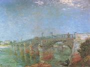 Vincent Van Gogh The Seine Bridge at Asnieres (nn04) oil painting picture wholesale