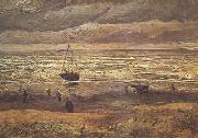 Vincent Van Gogh Beach at Scheveningen in Stormy Weather (nn04) oil painting picture wholesale