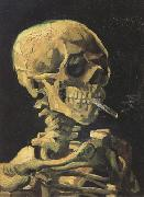 Vincent Van Gogh Skull with Burning Cigarette (nn04) oil painting picture wholesale