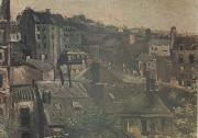Vincent Van Gogh View of the Roofs Paris (nn04) oil painting picture wholesale