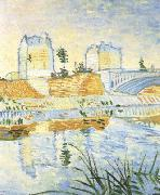 Vincent Van Gogh The Seine with the Pont de Clichy (nn04) oil painting picture wholesale