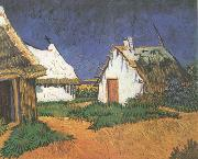 Vincent Van Gogh Three White Cottages in Saintes-Maries (nn04) oil painting picture wholesale