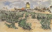 Vincent Van Gogh The Mill of Alphonse Daudet at Fontevieille (nn04) oil painting picture wholesale