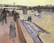 Vincent Van Gogh The Bridge at Trinquetaille (nn040 oil painting picture wholesale