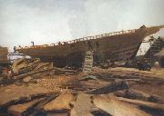 Winslow Homer Shipbuilding at Gloucester (mk44) oil painting picture wholesale