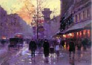 unknow artist Paris Street oil painting picture wholesale