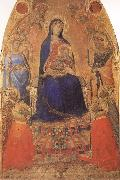 Ambrogio Lorenzetti Madonna and Child Enthroned,with Angels and Saints oil painting picture wholesale