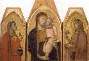 Ambrogio Lorenzetti Madonna and Child with Saints oil