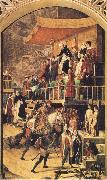 BERRUGUETE, Pedro Court of Inquisition chaired by St Dominic oil painting picture wholesale