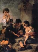 Bartolome Esteban Murillo Young Boys Playing Dice oil painting picture wholesale
