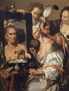 Bernardo Strozzi Woman at the mirror oil painting picture wholesale
