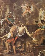 Brun, Charles Le The Martyrdom of St John the Evangelisth at the Porta Latina oil painting artist