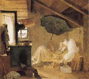 Carl Spitzweg The Poor Poet oil painting
