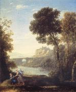 Claude Lorrain Landscape with Hagar and the Angel oil painting picture wholesale