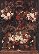 Daniel Seghers Floral Wreath with Madonna and Child oil painting picture wholesale