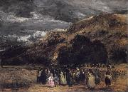 David Cox A Welsh Funeral oil painting picture wholesale