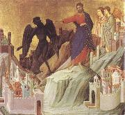Duccio di Buoninsegna The Tempration of Christ on the Mountain oil painting picture wholesale