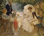 E.Phillips Fox The arbour oil painting
