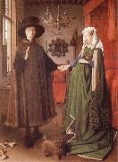 EYCK, Jan van Giovanni Arnolfini and His Wife Giovanna Cenami oil painting picture wholesale
